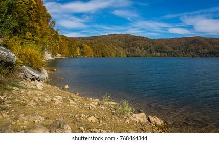 Lake Solinskie in Solina, Bieszczady, Poland