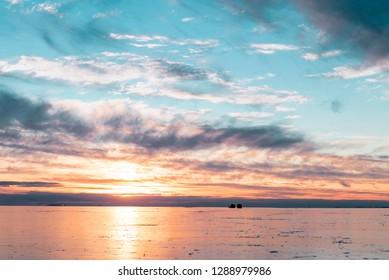 Lake St. Clair Michigan sunset