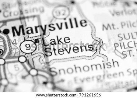 Lake Stevens Washington Map.Lake Stevens Washington State On Map Stock Photo Edit Now