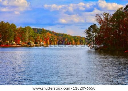 Lake Stone Mountain Georgia Stock Photo Edit Now 1182096658