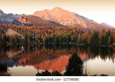 Lake Strbske pleso in High Tatras Slovakia - Shutterstock ID 117768385