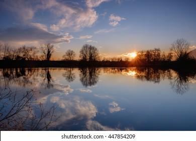 lake sunset  - Shutterstock ID 447854209