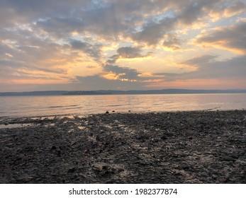 Lake at Sunset, Lake of Constanze