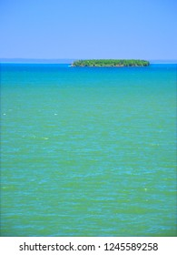 Lake Superior from Apostle Islands National Lakeshore in northern Wisconsin