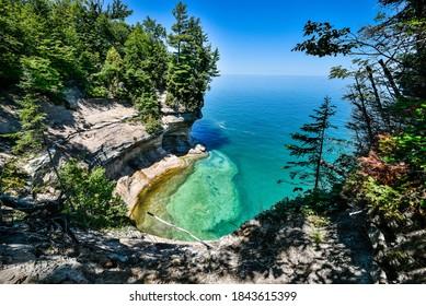 Lake Superior beach views from Michigan's upper peninsula