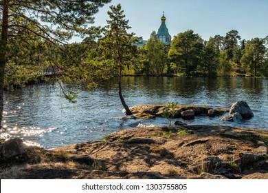 The lake is surrounded by St. Nicholas Skete. The wonderful island Valaam is located on Lake Lodozhskoye, Karelia. Balaam - a step to heaven