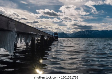 Lake Tahoe California Nevada in March 2018