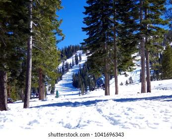 Lake Tahoe Ski Run at North Star