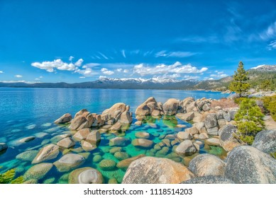 Lake Tahoe in a Snowy Winter