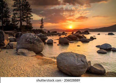 Lake Tahoe at sunset