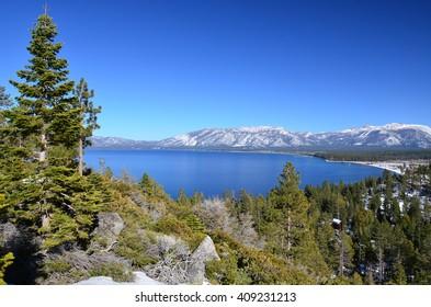 Lake Tahoe in Winter, near Emerald Bay