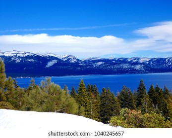 Lake Tahoe in winter on sunny day