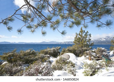 Lake Tahoe at winter time
