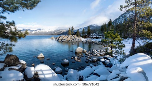 Lake Tahoe's Winter at Sand Harbor
