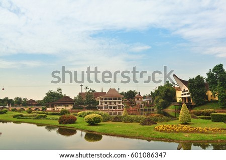 Lake Taman Mini Jakarta Indonesia Stock Photo Edit Now 601086347