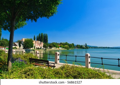 Lake in Tata, Hungary in summer