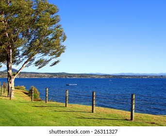 Lake Taupo in the Evening Light, New Zealand
