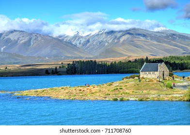 Lake Tekapo and Church of the Good Shepherd, South Island, New Zealand