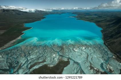 Lake Tekapo seen from above