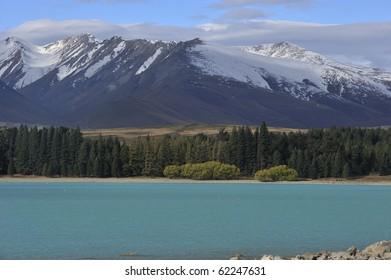 Lake Tekapo in south island of New Zealand