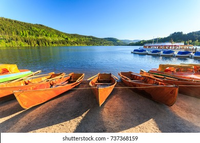 Lake Titisee Neustadt in the Black Forest. Germany.