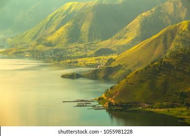 Lake Toba, a beautiful side of lake toba in north sumatera
