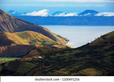 Lake Toba in Medan Indonesia.