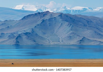 Lake Tolbo Nuur in Mongolia, landscapes of Western Mongolia, Asia travels