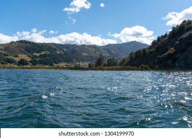Lake Tota. The largest lake in Colombia, located in the east of Boyacá department, inside the Sogamoso Province