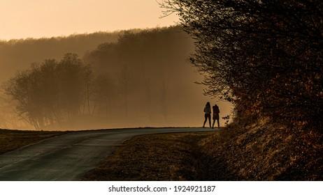 lake tour, croatia. the sun managed to break through the fog.
