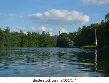 Lake in tsar palace park, Gatchina, Russia