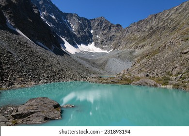 lake with turquoise water