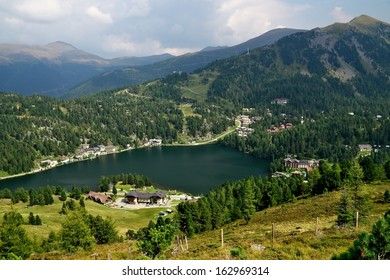 Lake Turrachsee from slopes in Turracher H�¶he, Austria