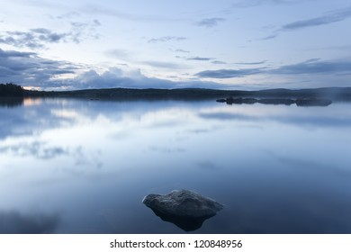 Lake in twilight, Sweden