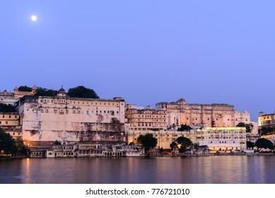 Lake at Udaipur City Palace