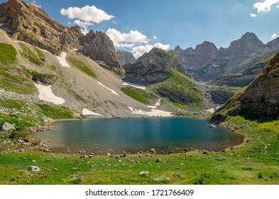 Lake Valley in Albania on Prokletije Mountain, on the border with Montenegro