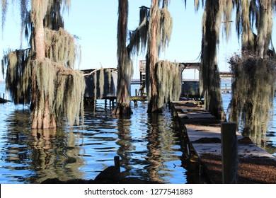 Lake Verret in Belle River Louisiana