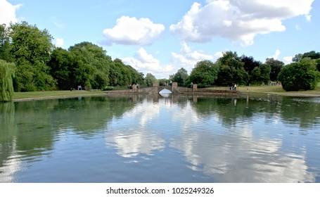 Lake in Verulamium Park, St. Albans