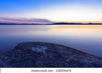 Lake view after sunset