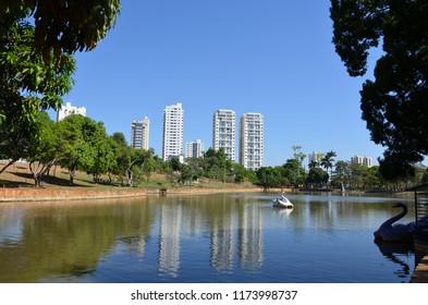 Lake view in Goiania Goias Brazil