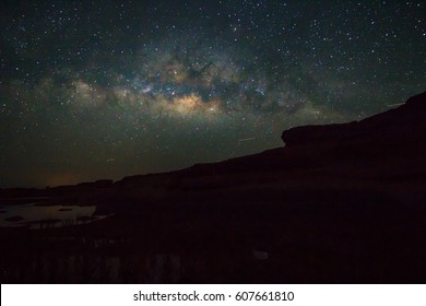 lake view with milky way on the sky /Milky way