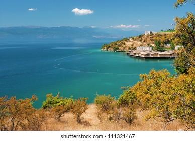 Lake, view on Albania.
