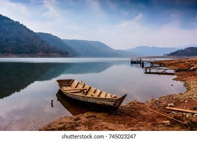 Lake view in Shillong .
