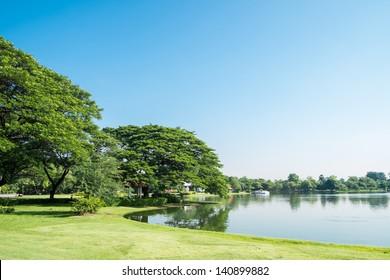 Lake view at Suan Luang Rama 9 Park, Thailand