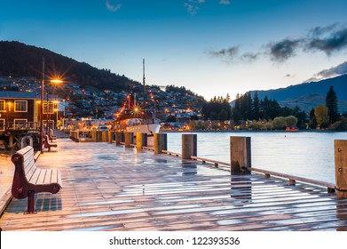 Lake Wakatipu at twilight, Queenstown, New Zealand