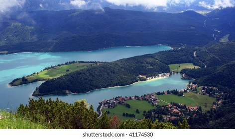 "Lake ""Walchen"" in Bavaria"