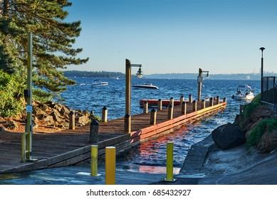 Lake Washington access from Kirkland's public boat launch in Marina Park