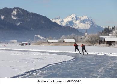 lake weissensee,winter in carinthia,austria
