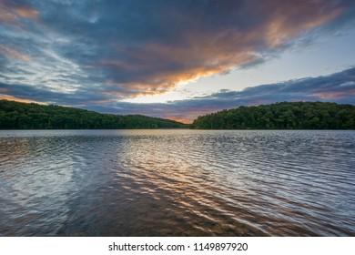 Lake Williams at sunset, in York, Pennsylvania