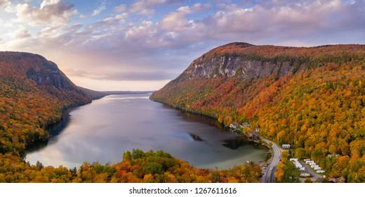 Lake Willoughby Vermont Pano